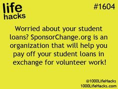 This Pin was discovered by Kaila White. Discover (and save!) your own Pins on Pinterest. | See more about student loans, student and life hacks..