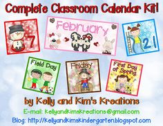 ON SALE THIS WEEK! Our Complete Classroom Calendar Kit has over 100 pages of calendar headers, days of the week, number cards, holidays, and special events for all 12 months for your interactive classroom calendar!
