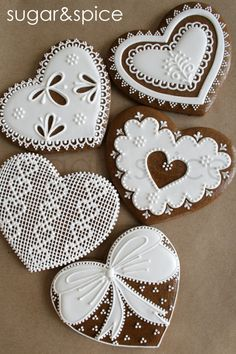 Lace decorated cookies are about as elegant as it can get in the baking world. Perfect for weddings, baby showers, and many other special events, these feminine cookies truly know how to impress in. Lace Cookies, Heart Cookies, Cupcake Cookies, Sugar Cookies, Cookie Favors, Easter Cookies, Valentines Day Cookies, Birthday Cookies, Christmas Gingerbread