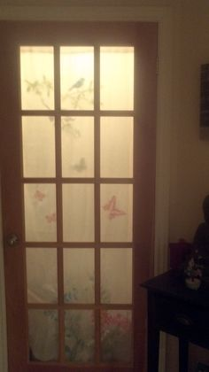 add a closet door with a silouette