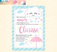 Cloud Party, Cloud Decoration, Ideas Para Fiestas, 3rd Birthday Parties, Romantic Gifts, Baby Party, Baby Shower Decorations, Baby Shower Invitations, Party Planning
