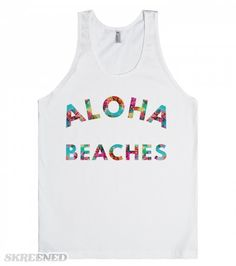 Aloha, beaches! Summertime is coming. That means warm weather, beach trips, and parties! Wear this cheeky tank with your favorite maxi skirt or jean shorts!  #summer
