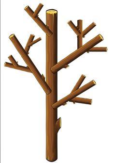 opdrachtkaart takken een kale boom