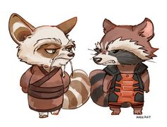 Master Shifu and Rocket Raccoon