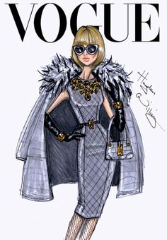 Sketched: 26 Illustrations of Major Fashion Editors | Anna Wintour, Vogue Editor in Chief - WhoWhatWear