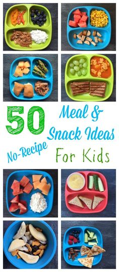 Kid-Friendly Meal and Snack Ideas- NO RECIPES Needed 50 healthy meal and snack ideas for kids that require minimal cooking and no recipe! healthy meal and snack ideas for kids that require minimal cooking and no recipe! Kids Cooking Recipes, Baby Food Recipes, Kid Cooking, Jello Recipes, Cooking Light, Cooking Classes, Cooking Games, Cooking Pork, Cooking School