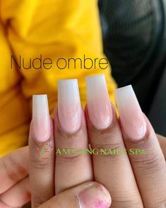 Nude ombre Modern Nails, Amazing Nails, Nail Spa, Fun Nails, Nude, Shapes, Collection