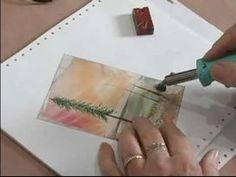 Advanced Encaustic Wax Painting : Creating Trees in Encaustic Wax Paintings - YouTube