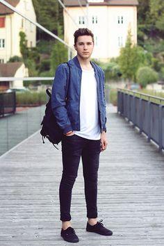 Asos Jacket, Acne Studios T Shirt, Cheap Monday Jeans, Vans Shoes