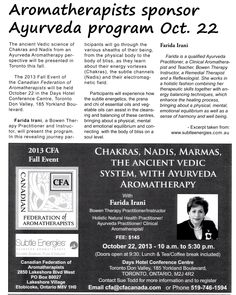 Our ad for the 2013 CFA Fall Event - as seen in the RRCO inTouch magazine! Ayurveda, Aromatherapy, Chakra, Physics, Workshop, Science, Events, Ads, Magazine