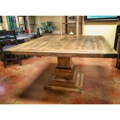 Ideas For Square Wood Patio Table Outdoor Furniture Square Dining Room Table, Wooden Dining Tables, Dinning Table, Patio Table, Wood Patio, Pedestal Dining Table, Dining Rooms, Modern Grey Kitchen, Grey Kitchen Designs