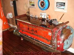 Cool truck bed side table......nice #home #decor