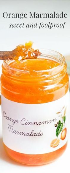 Orange Marmalade: A foolproof recipe to get perfectly sweet, bitter-free marmalade! Recipe via http://MonPetitFour.com