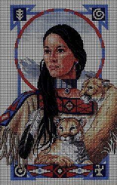 native american medaila crochet afghans | home crochet graph patterns native american noble reflections crochet ...
