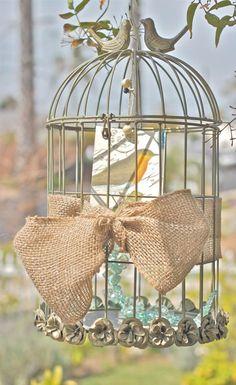 Rustic Metal Bird Cage