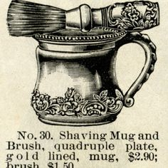 Antique Shaving Mug and Brush Sets