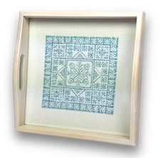 Winter Snowflake Tray - DMC floss #christmas #winter #crossstitch