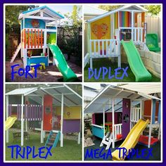We have the perfect size cubby for every yard! #MyCubby #cubbyhouse Kids #play #backyard