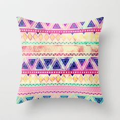 Aztec Sunset Throw Pillow by Girly Trend - $20.00