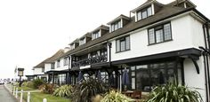 Looking for a beachfront hotel in Bexhill on Sea, East Sussex? The Cooden Beach Hotel is ON the beach - great views, stylish Brasserie, Gin Palace & Great Hotel, East Sussex, Beach Hotels, Great View, Campsite, Spa, England, Restaurant, Club