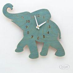 De Baby Turquoise / Teal olifant Design Wandmodellen door LeLuni