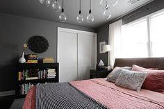 Fajna kolorystyka sypialni