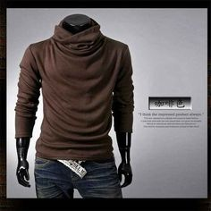 New Winter 2016 Fashion Men Pullovers Long Sleeve Male Knit Bottoming Turtle Neck Colorful Mens Sweaters 6 Colors M-XXL