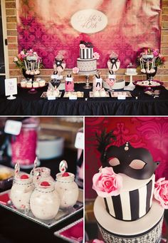 Chic Masquerade Inspired 40th Birthday Party, some great ideas for weddings too!