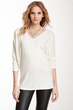 Go Couture V-Neck Sweater