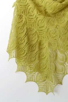 Lime green lace shawl Hand knitted shawl Lime green by Crafticum