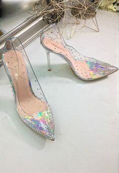 ASOS Marketplace | Buy & sell new, pre-owned & vintage fashion Court Heels, Plastic Shoes, Metallic Heels, Kitten Heels, Asos, Buy And Sell, Vintage Fashion, Pumps, Pumps Heels