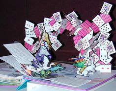 Alice in wonderland pop-up book #kids #books #play