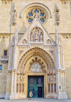 Zagreb Cathedral DOORWAY - Motopeds Survival Bike is the Ultimate in Pedal-Power Adventuring. Travel Around The World, Around The Worlds, Zagreb Croatia, Top Place, Croatia Travel, Bosnia, Countries Of The World, Montenegro, Slovenia