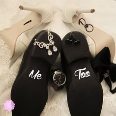 Check out this item in my Etsy shop https://www.etsy.com/uk/listing/260380898/wedding-shoes-decal-set-i-do-me-too