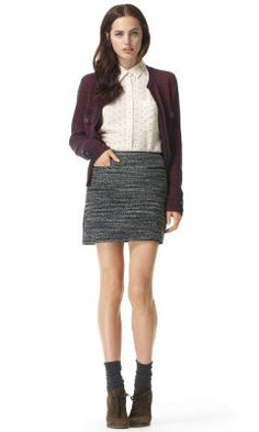 Stephanie Textured Skirt - Club Monaco Bottoms - Club Monaco