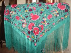 Silk Shawl, Tribal Jewelry, Embroidered Flowers, Fashion Prints, Boho Chic, Scarves, Delicate, Embroidery, Sewing