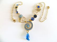 swarovski gold plated necklace very unique hand-made  will  upgraded your appearance  In any event