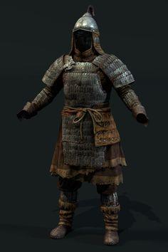 Mongol scale level up asset, Dmitriy Romodanovsky Viking Armor, Samurai Armor, Arm Armor, Medieval Armor, Body Armor, Medieval Fantasy, Mongolia, Lamellar Armor, Dynasty Clothing