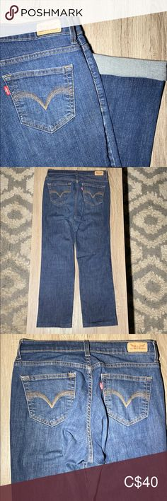 Levi's Straight Fit Ankle Jeans 👖 Fantastic conduction! inseam Very nice medium wash Bundle to save :) LBKE Levi's Jeans Straight Leg Slim Jeans, High Jeans, Levi 501s, Under Armour Joggers, Levi Strauss Jeans, Distressed Black Jeans, Button Fly Jeans, Lightweight Cardigan, Ankle Jeans