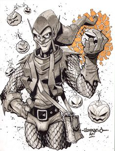 Green Goblin :: Sketch 04 by Red-J on @DeviantArt