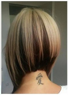 Inverted Bob w/ highlights and lowlights
