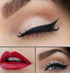Simple and fierce #red #makeup