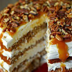 Caramel Apple Mousse Cake