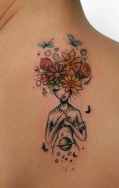 When done properly, a reduced back tattoo could be both sexy and stylish. These tattoos are usually found on older and young females. Tattoos on this particular part of the rear are very popular that Dream Tattoos, Future Tattoos, Body Art Tattoos, New Tattoos, Small Tattoos, Flower Tattoos, Unique Tattoos, Black Tattoos, Hand Tattoos