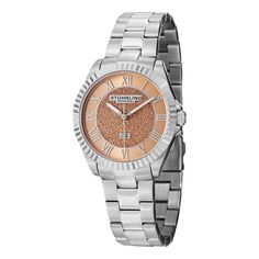 **YES***  The Shimmer is an elegant women's timepiece found in Stuhrling Original's Vogue Collection. The beautiful solid stainless steel case includes a polished ribbed bezel that frames an incredible sand-finish central dial!