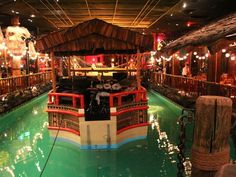 19 The Tonga Room The height of faux-Polynesian kitsch, the Fairmont Hotel's basement bar can be counted on for rum-heavy drinks served inside pineapples, pu-pu platters, and rain shows every half hour in the central pool, complete with a live band playi Places To Travel, Travel Destinations, Places To Visit, Domestic Destinations, Amazing Destinations, Travel Tips, Road Trip Los Angeles, Classic Restaurant, Tiki Restaurant