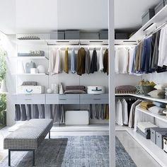 Wie Wäre Es Mit Einem Begehbaren Kleiderschrank? Ein Schönes  Aufbewahrungssystem Haben Wir Von @Novamobili