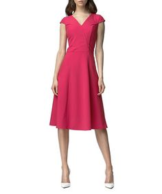 Fuschia knee length dress Sale - NIFE Sale