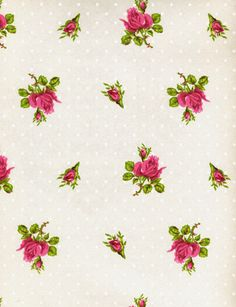 Roses & Dots Wallpaper from Brian Yates. Looks laura Ashley style. Love it!