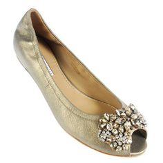 Vera Wang Lavender Luna Flats :  wedding vera wang lavender luna gold silver shoes flats Vera Wang Lavender Luna Pewter M